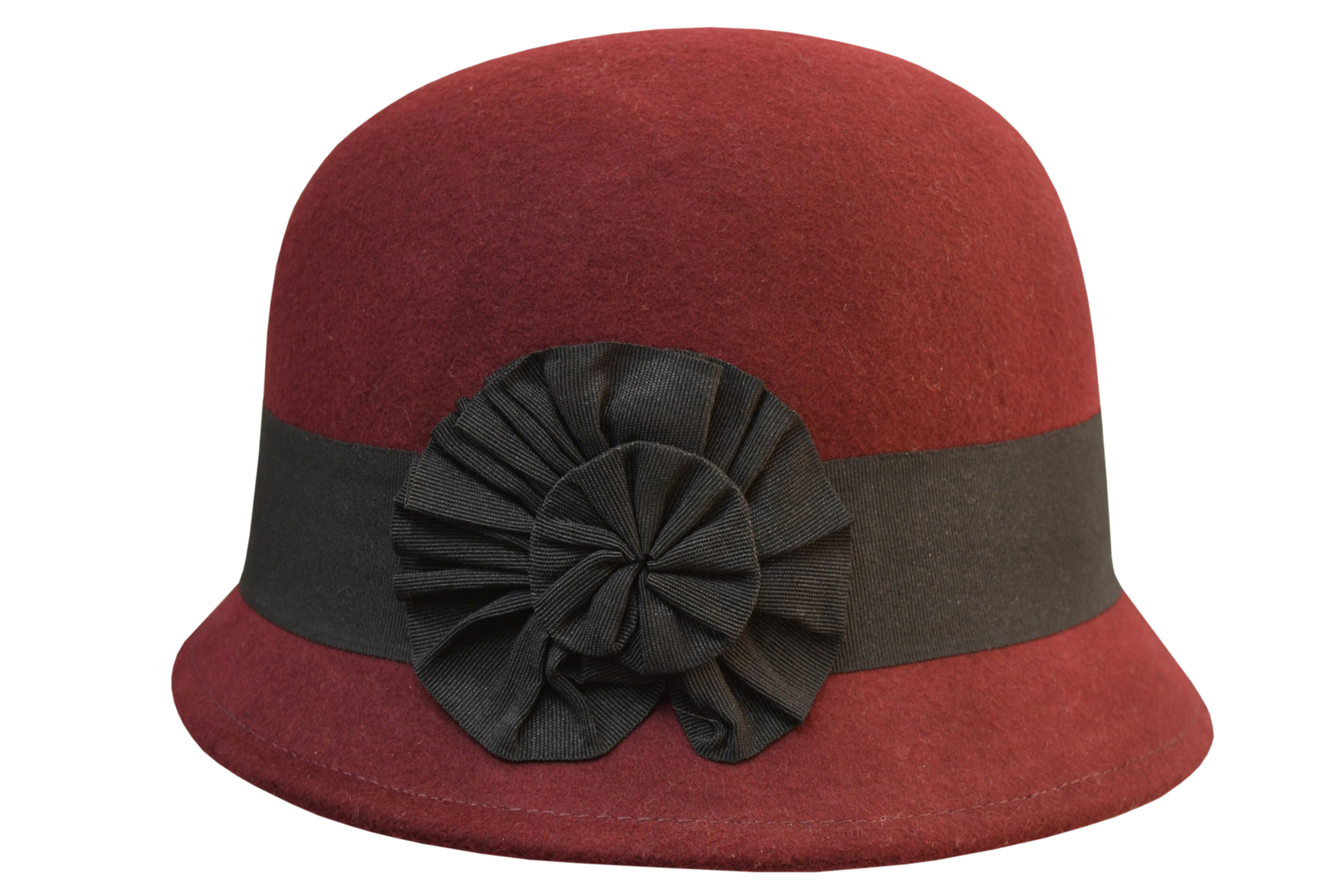 Imported Wool Felt Cloche with Prize Ribbon - Hills Hats
