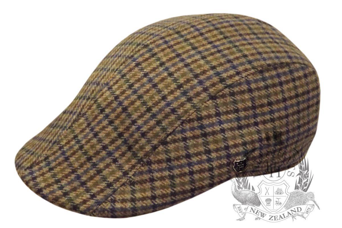 Lightweight Lambswool Tweed Duckbill Cap - Hills Hats 2016ac73626